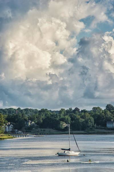 Stormy Sunday Morning On The Navesink River Poster