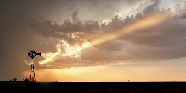 Poster featuring the photograph Stormy Sunset And Windmill 01 by Rob Graham
