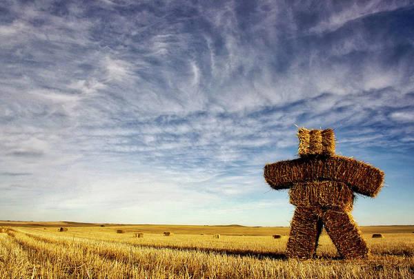 Strawman On The Prairies Poster