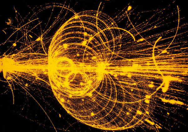 Streamer Chamber Photo Of Particle Tracks Poster