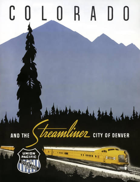 Streamliner City Of Denver 1936 Poster