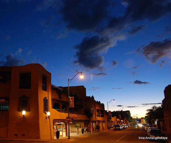 Street In Santa Fe Poster
