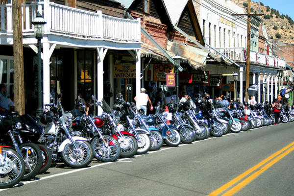 Street Vibrations In Virginia City Nevada Poster