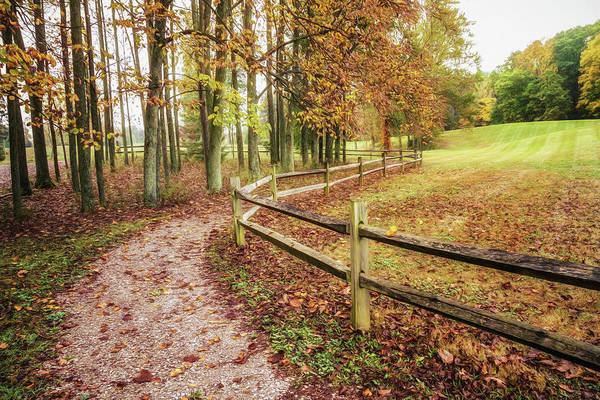 Strolling Through Autumn Poster