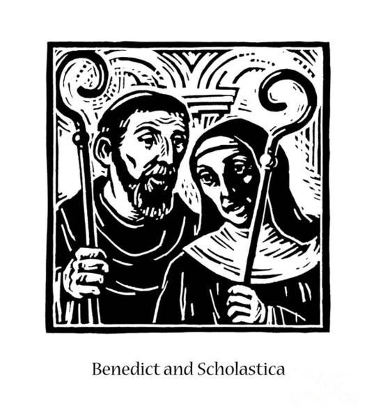 Sts. Benedict And Scholastica - Jlbas Poster