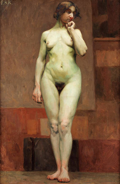 Study Of Female Nude Poster