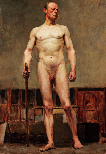 Study Of Male Nude Poster
