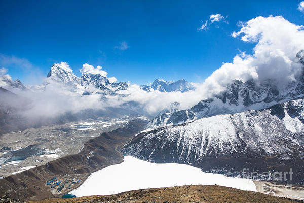 Stunning Panorama Over Gokyo In Nepal Poster