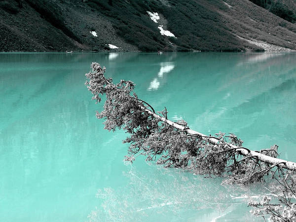 Stunning Turquoise Glacial Lake Poster