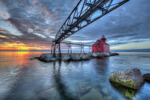 Sturgeon Bay Lighthouse Sunrise Poster