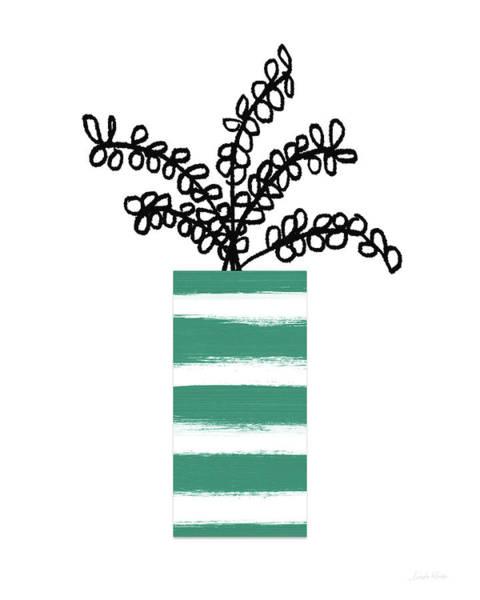 Succulent In Green Pot 1- Art By Linda Woods Poster