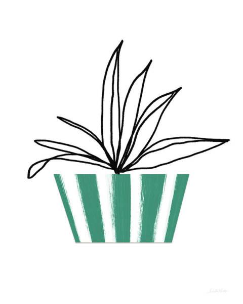 Succulent In Green Pot 3- Art By Linda Woods Poster