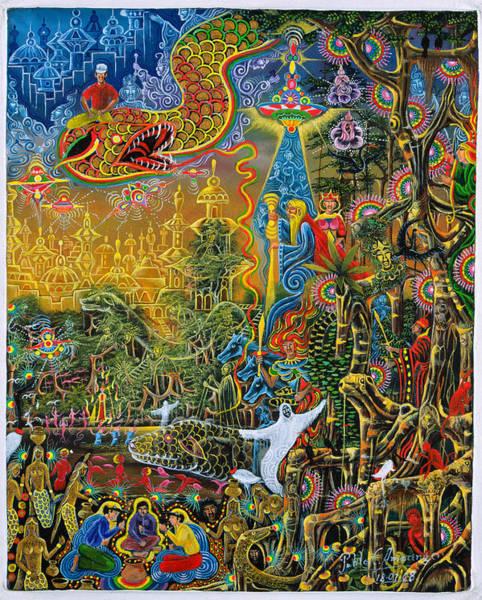 Poster featuring the painting Sumac Icaro by Pablo Amaringo