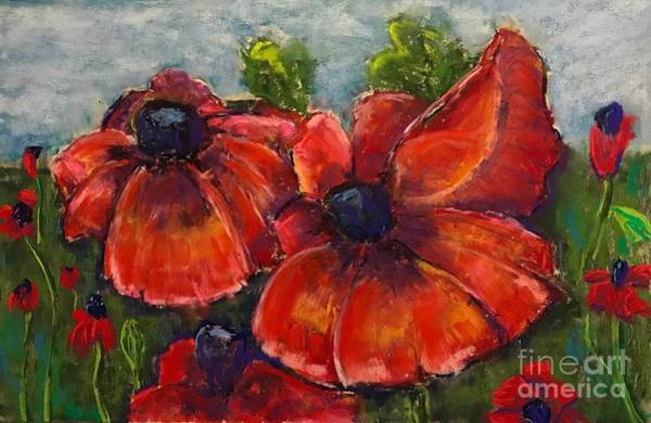 Summer Field Of Poppies Poster