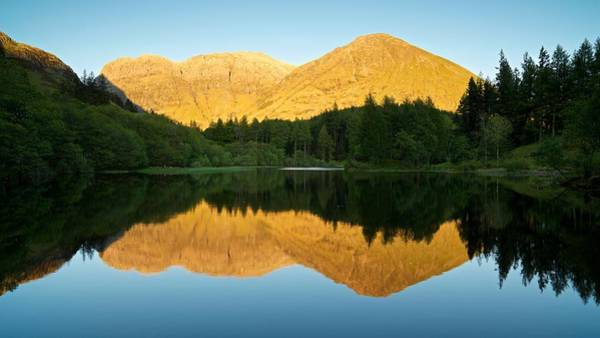 Summer Reflections In Glencoe Poster