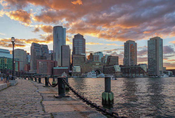 Summer Sunset At Boston's Fan Pier Poster