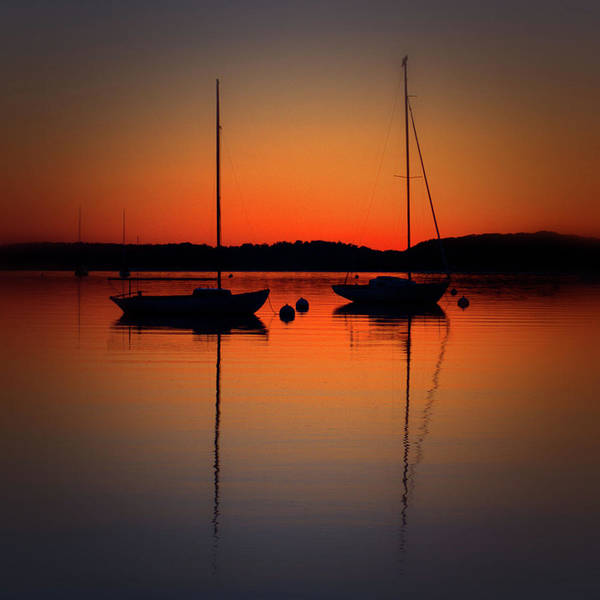Summer Sunset Calm Anchor Poster