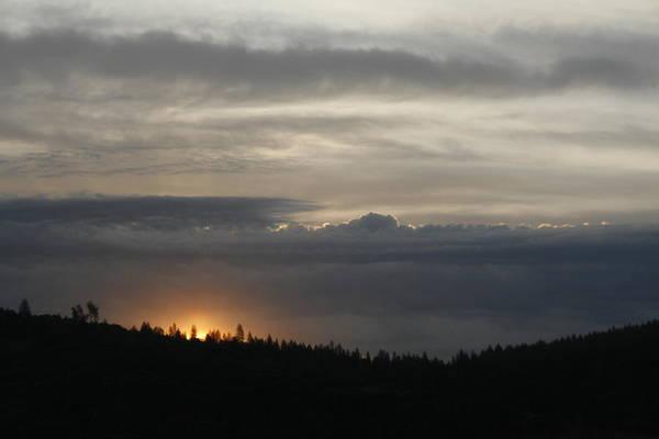 Sun Rises On Ridge Poster