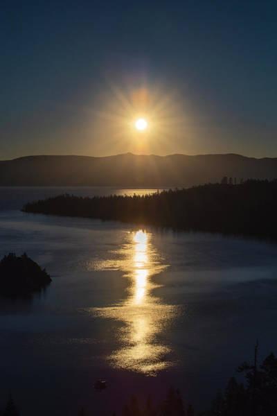 Sun Rising Over Lake Tahoe Poster