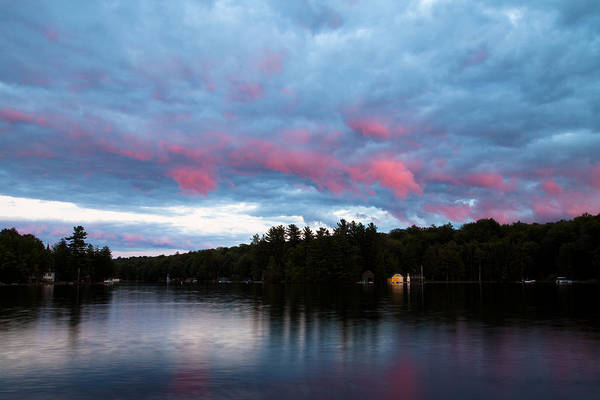 Sun Setting On Old Forge Pond Poster