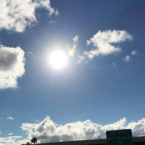 Sun Sky Angel Poster