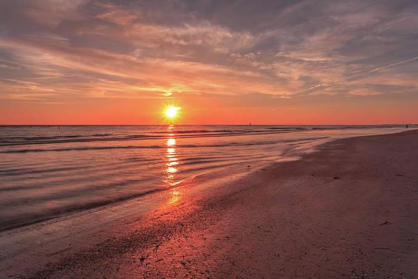 Sunburst At Sunset Poster