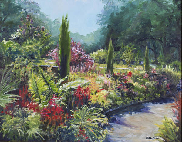 Sunlit Garden Poster