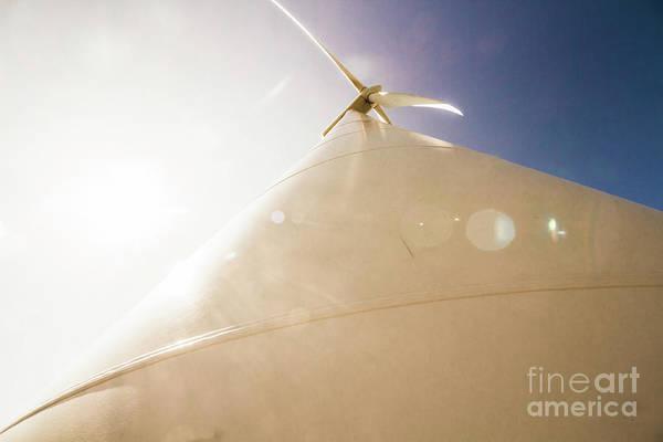 Sunlit Wind Power Poster