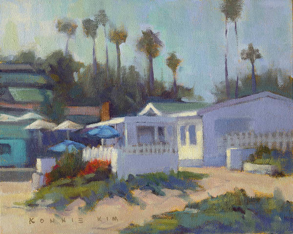 Poster featuring the painting Sunny Day At Crystal Cove by Konnie Kim