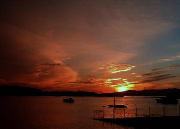 Sunraise Over Lake Poster