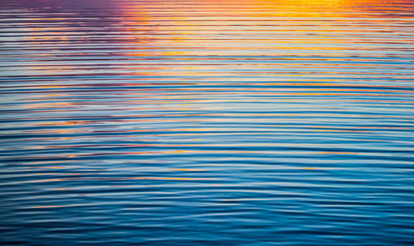 Sunrise Abstract On Calm Waters Poster
