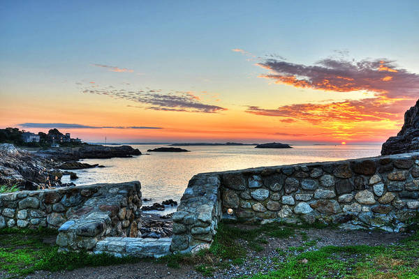 Sunrise At Castle Rock Marblehead Ma Poster