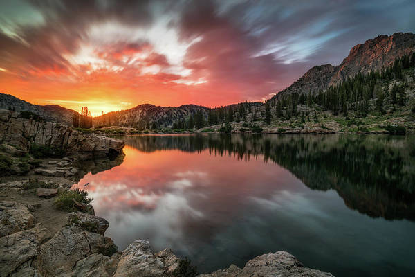 Sunrise At Cecret Lake Poster