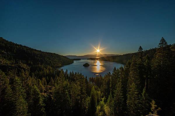 Sunrise At Emerald Bay Poster