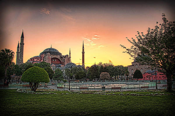 Sunrise At Hagia Sophia Poster