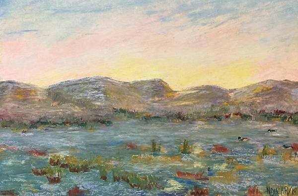 Sunrise At The Pond Poster