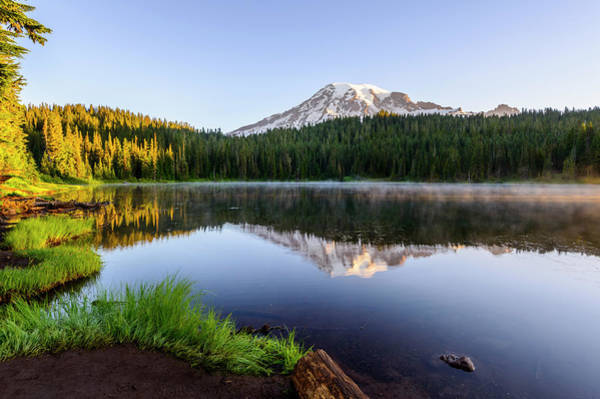 Mount Rainier Viewed From Reflection Lake Poster