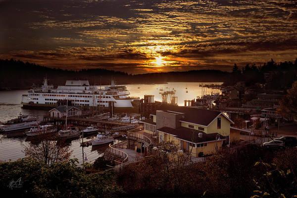 Sunrise Friday Harbor Poster