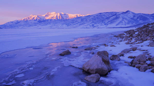 Sunrise Ice Reflection Poster