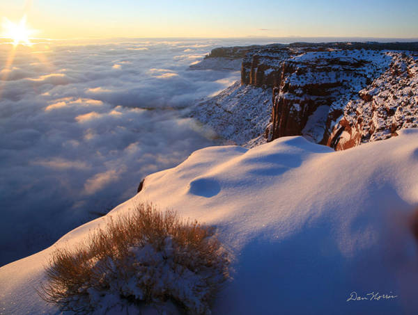Sunrise Inversion At Buck Canyon Overlook Poster