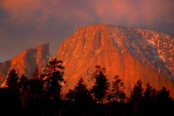 Sunrise On Long's Peak Poster