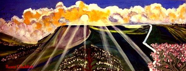 Sunrise On The Darren Mountain Poster