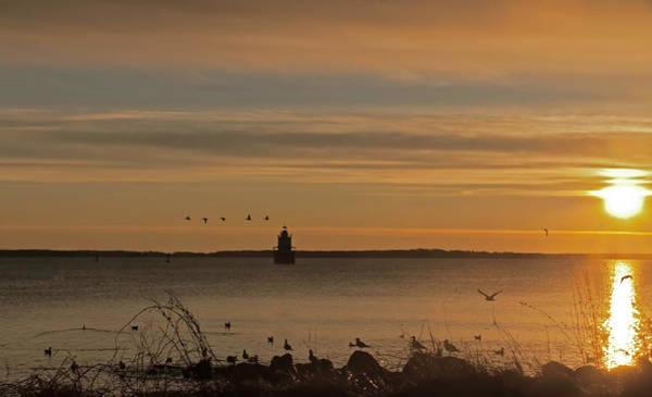 Sunrise Over New Bedford Poster