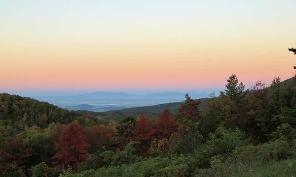 Sunrise Over The Shenandoah Valley Poster