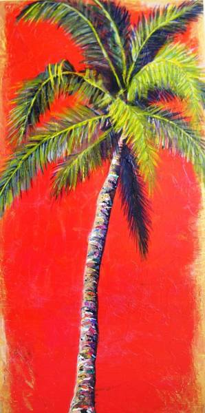Sunrise Palm Poster