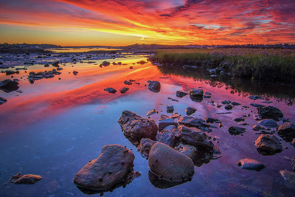 Sunrise Reflections In Harpswell Poster