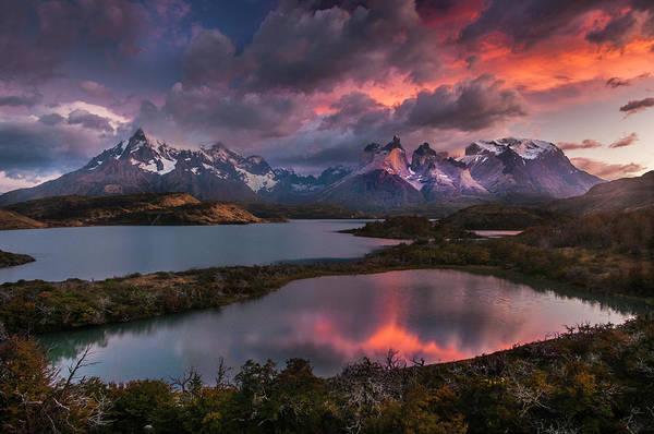 Sunrise Spectacular At Torres Del Paine. Poster