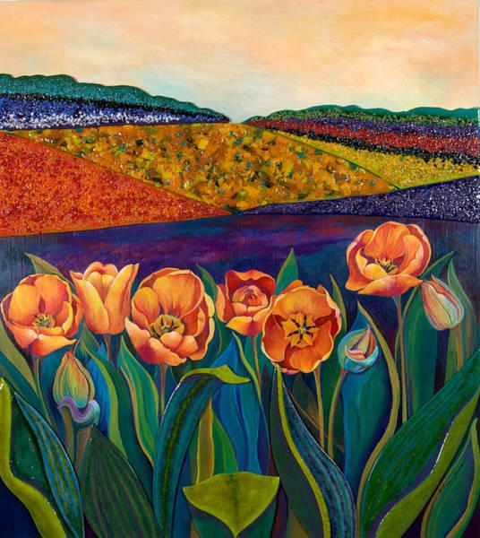 Sunrise Tulips Poster