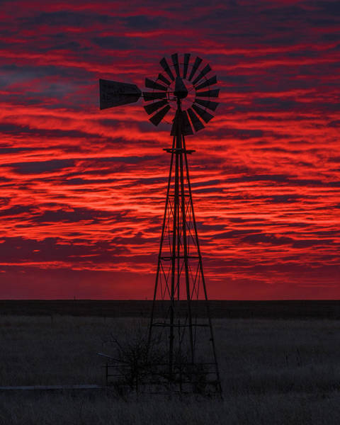 Poster featuring the photograph Sunset And Windmill 02 by Rob Graham