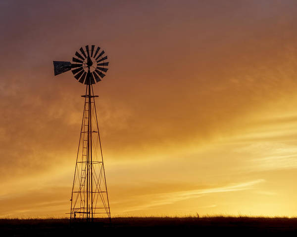 Poster featuring the photograph Sunset And Windmill 09 by Rob Graham